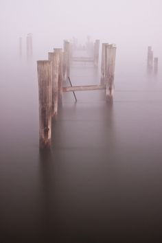An old dock in dense fog that had settled in over the Patuxent River in Maryland. ~ Jeff Smallwood