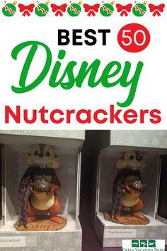 Best Disney Christmas, holiday nutcrackers. Great for fans of Disney World Walt Disney World Vacations, Disney Resorts, Disney Trips, Disney Christmas, Christmas Holiday, Nutcracker Figures, Disney World With Toddlers, Disney World Planning, Vacation Deals
