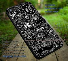 Black fan art collage, calum luke, ashton michael, 5sos, 5 Second of Summer, case/cover for iPhone 4/4s/5/5c/6/6 /6s/6s  Samsung Galaxy S4/S5/S6/Edge/Edge  NOTE 3/4/5 #music #cartoon #5sos ii