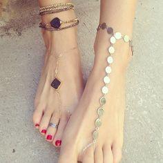 JNB, anklets, jnb anklets, stone, drusy, boho style, rocker style, druzy, gold, silver, jewelry, toe rings