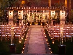 Beautiful ceremony-lots and lots of candlight