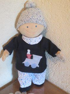 Puppenkleidung Set 5tlg. passend für Krümel