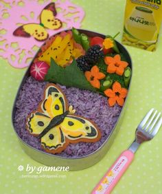 Spring Butterfly Bento