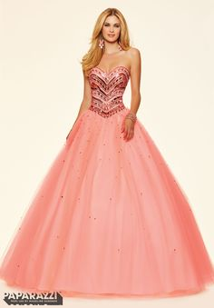 @lexibrazelton this will be available at Bridal Collections Prom dresses by Paparazzi Prom Jeweled Beading on a Tulle Ball Gown Corset Back Closure. Colors Available: Mint Leaf, Coral Burst