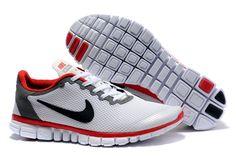 Nike Free 3.0 V2 White Grey Red Black Mens Running Shoes