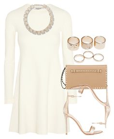 """""""Style #9115"""" by vany-alvarado ❤ liked on Polyvore featuring Valentino, Gianvito Rossi and Wet Seal"""