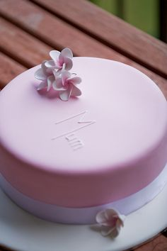 Frangipani Mothers' Day cake by For Heaven's Cake Sydney, via Flickr