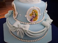 Three Tier Disney Cinderella Princess Cake - Disney Every Day Owl Cakes, Cupcake Cakes, Fruit Cakes, Cupcakes, Cinderella Princess, Princess Party, Cinderella Cakes, Rapunzel, Birthday Cake Girls