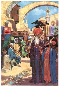 The Story of Ali Cogia - a merchant of Bagdad - The Arabian Nights - co-published by Constable & Co. Ltd. (London) and Dodd, Mead and Company (New York) in 1912
