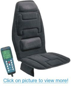Comfort Products 60-2910 Ten Motor Massaging Seat Cushion in Charcoal Gray, Seat cushion, Charcoal gray finish, Simulated suede fabric, Ten invigorating massage motors for the upper back, lower back and thighs, Soothing heat treatment, Memory foam in neck rest and lumbar support pads, Easy to operate hand held electronic controller, Side pouch for storage, AC and DC adaptors for home, office and auto #Comfort #Products #60_2910 #Ten #Motor #Massaging #Seat #Cushion #Charcoal #Gray #cushion…