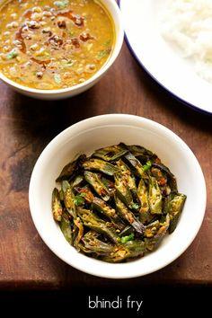 bhindi fry recipe - easy and spiced punjabi bhindi fry recipe.
