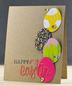 Happy Easter Card by pixnglue at Studio_Calico - Happy Easter Card by pixnglue at Studio_Calico - Scrapbooking, Scrapbook Cards, Scrapbook Layouts, Diy Easter Cards, Diy Cards, Happy Easter Cards, Easter Greeting, Greeting Cards, Handmade Easter Cards