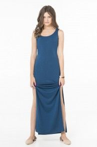 MAXI TANK DRESS WITH SIDE SLITS