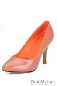 GrabMyLook  Pointed Toe Patent Faux Leather Heels