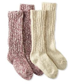 Cotton Ragg Camp Socks,Two-Pack from LL Bean