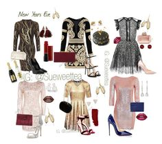 """A Rockin' New Years Eve"" by susanmarie94 on Polyvore featuring WearAll, Matthew Williamson, Elie Saab, Boohoo, For Love & Lemons, Topshop, Yves Saint Laurent, Giuseppe Zanotti, Gianvito Rossi and Christian Louboutin"