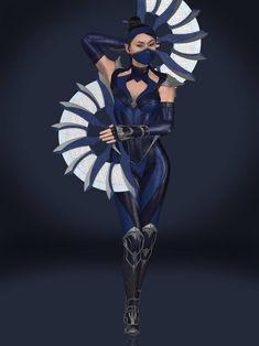 Kitana (Edenian Blue) by Sticklove on DeviantArt Kitana Mortal Kombat, Mortal Kombat Art, Harley Costume, Kitana Cosplay, Liu Kang And Kitana, Saints Row Iv, Sonya Blade, Mortal Combat, Mileena
