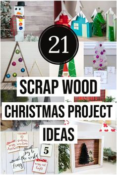 Easy DIY Christmas projects to make. Turn your scrap wood into Christmas decor today with these simple yet beautiful Christmas woodworking project ideas! DIY Christmas wood projects to sell, rustic decor. #anikasdiylife #christmas #woodworking
