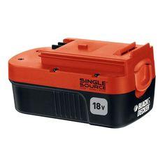 BLACK+DECKER 18-Volt Ni-Cad Slide Pack Battery - JAN