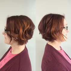 luscious red and soft graduated bob