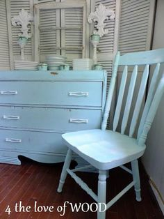 painted furniture - 4 the love of wood: COLOR RECIPE - mix Turquoise from ASCP