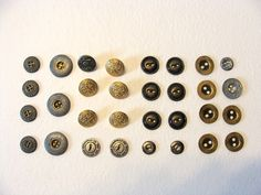Vintage Metal Button Collection 32 silver and by injoytreasures, $6.00