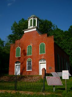 Old Rodney MS Presbyterian Church in Jefferson County. Built in 1830 in Federal style.