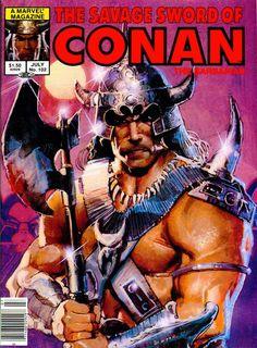 Bill Sienkiewicz 1984: Savage Sword of Conan #102 cover