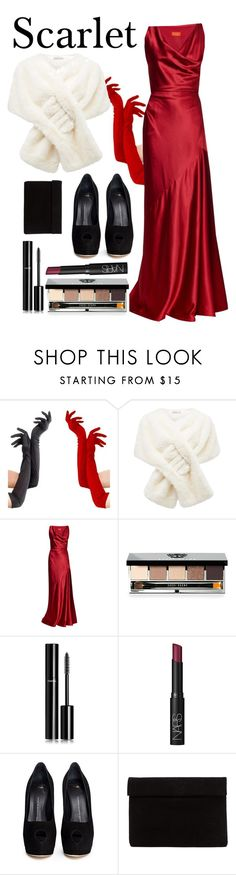 """Clue: Scarlet"" by averydane ❤ liked on Polyvore featuring Forever New, Vivienne Westwood Red Label, Bobbi Brown Cosmetics, Chanel, NARS Cosmetics and Giuseppe Zanotti"