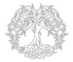 I found a lovely Celtic Tree of Life mandala for you to color today. This one you can even color online if you don't have coloring tools!