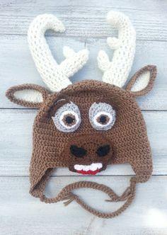 Sven From The Movie Frozen Reindeer Crochet Hat