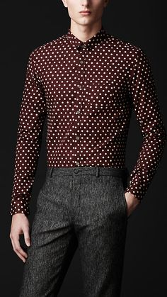 Collar Pin Polka Dot Shirt | Burberry