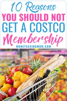 Wondering if getting a membership at Costco is worth it and ready to get one?  You may want to reconsider after reading these reasons!  #costco #costcomeals #costcoshoppinglist Costco Shopping List, Shopping Hacks, Grocery Lists, Raw Food Recipes, Freezer Recipes, Freezer Cooking, Freezer Meals, Drink Recipes, Cooking Tips