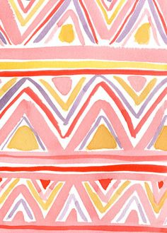 Pattern Play by Caitlin McGauley from Watercolor Wednesdays on blog.lonnymag.com