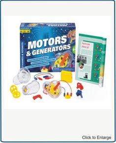 Motors & Generators    Build Your Own Electric Motor  Electric motors and generators are in countless devices, appliances, and vehicles we use every day. They are an essential technology in our modern world. With this kit, you can conduct 25 experiments to learn how an electric motor converts electricity into motion, and how an electric generator does just the opposite, converting motion into electricity.