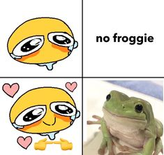 Frog Pictures, Cute Pictures, Cute Memes, Funny Memes, Pet Frogs, Arte Indie, The Embrace, Handsome Anime Guys, Frog And Toad