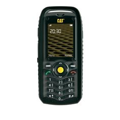 CAT B25  A no-nonsense, tough mobile phone from Caterpillar, the CAT B25 is waterproof and dustproof (IP67 rated) and is able to withstand a drop onto a hard surface from a height of up to 2 metres.  With a battery standby time of nearly 2 weeks, hands-free speakerphone, video capture and SMS/MMS capabilities, this is a work tool to simply help you keep in touch.