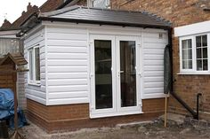 Hi, new to the forum, thought someone might know the answer to this. I want to add a small extension ( x ) to the rear of the house, which is. Oak Cladding, House Cladding, Cladding Ideas, Wooden Cladding, Garden Room Extensions, House Extensions, House Extension Design, House Design, Extension Ideas