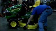 Sharpen Riding Lawn Mower Blades : Remove the deck from a Riding Lawn Mower. - YouTube