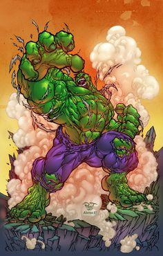 #Hulk #Fan #Art. (Hulk) By: Alonso Espinoza. (THE * 5 * STÅR * ÅWARD * OF: * AW YEAH, IT'S MAJOR ÅWESOMENESS!!!™)[THANK Ü 4 PINNING!!!<·><]<©>ÅÅÅ+(OB4E)