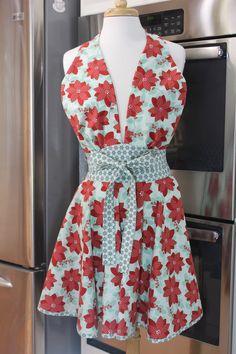 "Black NEW Chantilly Hostess Kitchen Cooking Apron 26/"" x 26/"" Cotton"
