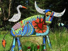Mosaic sculpture Fun! Darn Bird!