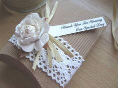 Hechos a mano a favor de la boda rústico Vintage Rose por Cherlaan