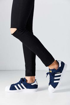 Adidas Women Shoes adidas Suede Superstar Sneaker (bleu marine) - We reveal the news in sneakers for spring summer 2017 Adidas Shoes 2017, Cool Adidas Shoes, Adidas Shoes Women, Nike Free Shoes, Sneakers Adidas, Women's Shoes, Shoe Boots, Dress Shoes, Wide Shoes