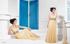Designer party wear bollywood anarkali salwar suit at Party Wear Long Gowns, Evening Party Gowns, Net Gowns, Anarkali Dress, Anarkali Suits, Gowns Of Elegance, Designer Gowns, Cotton Dresses, Casual Dresses