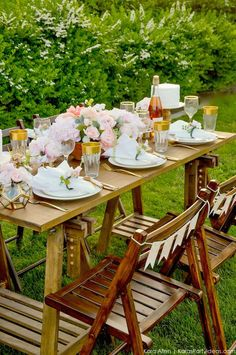 Looking for a perfectly styled Garden Party Tablescape + Free Printables? Kara's Party Ideas presents a rustic and chic tablescape that you have to see! Deco Champetre, Wedding Canvas, Home Depot Kitchen, Garden Party Wedding, Patio Bar, Restaurant Kitchen, Party Table Decorations, Garden Table, Cool House Designs