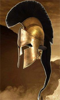 300 Leonidas Helmet for sale is an officially licensed replica from the popular movie. These authentic movie collectibles measure 19 inches in all and weigh over 12 pounds. Modeled after the helmet worn by King Leonidas on screen, these helmets are handsomely crafted of steel that is plated with antiqued brass. The interior has an adjustable leather lining. They have an horsehair crest. They include a certificate of authenticity.