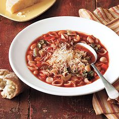 ... Minestrone on Pinterest   Soups, Kidney beans and Easy minestrone soup