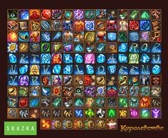 Icons for mmo 'the Kingdome' by Gimaldinov on DeviantArt
