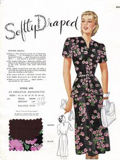 Masionette Frocks Salesmans Sample late 1940's